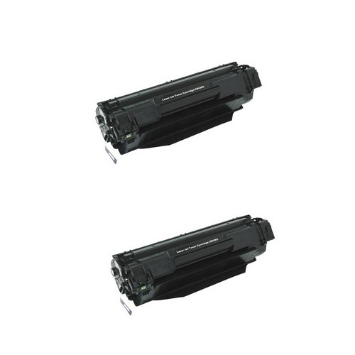 Compatible HP LaserJet P1505 Jumbo Toner Cartridge (2/PK-3000 Page Yield) (NO. 36J) (CB436JD)